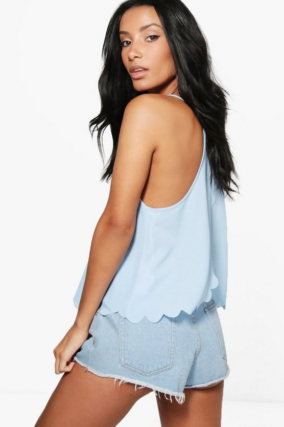 Megan Scallop Split Back Cami