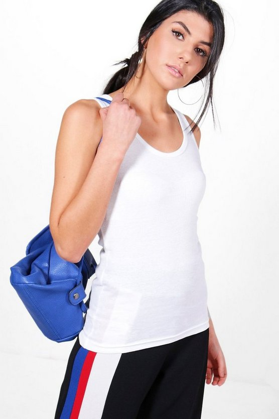 Harriet Ladies Ribbed Muscle Back Vest