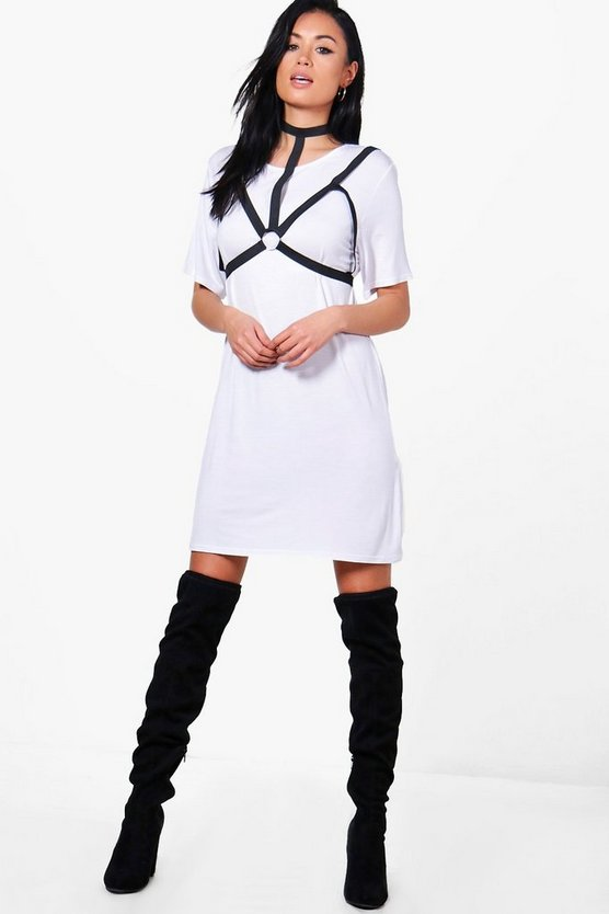 Sofia Harness Corset T-Shirt Dress