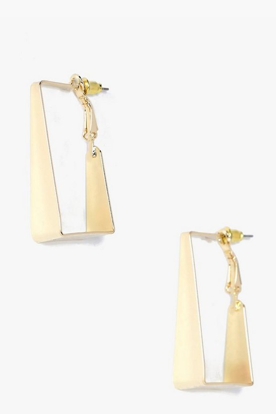 Isabella Square Hoop Earrings