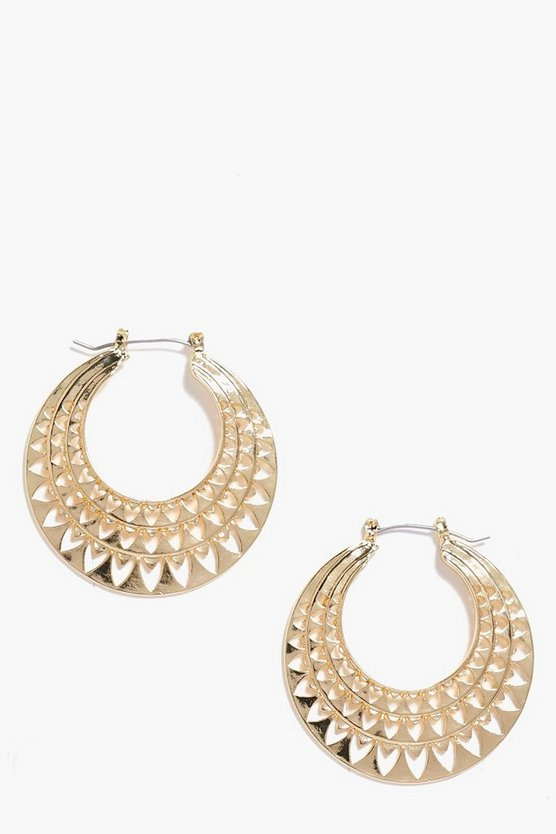 Caroline Aztec Cut Out Hoops