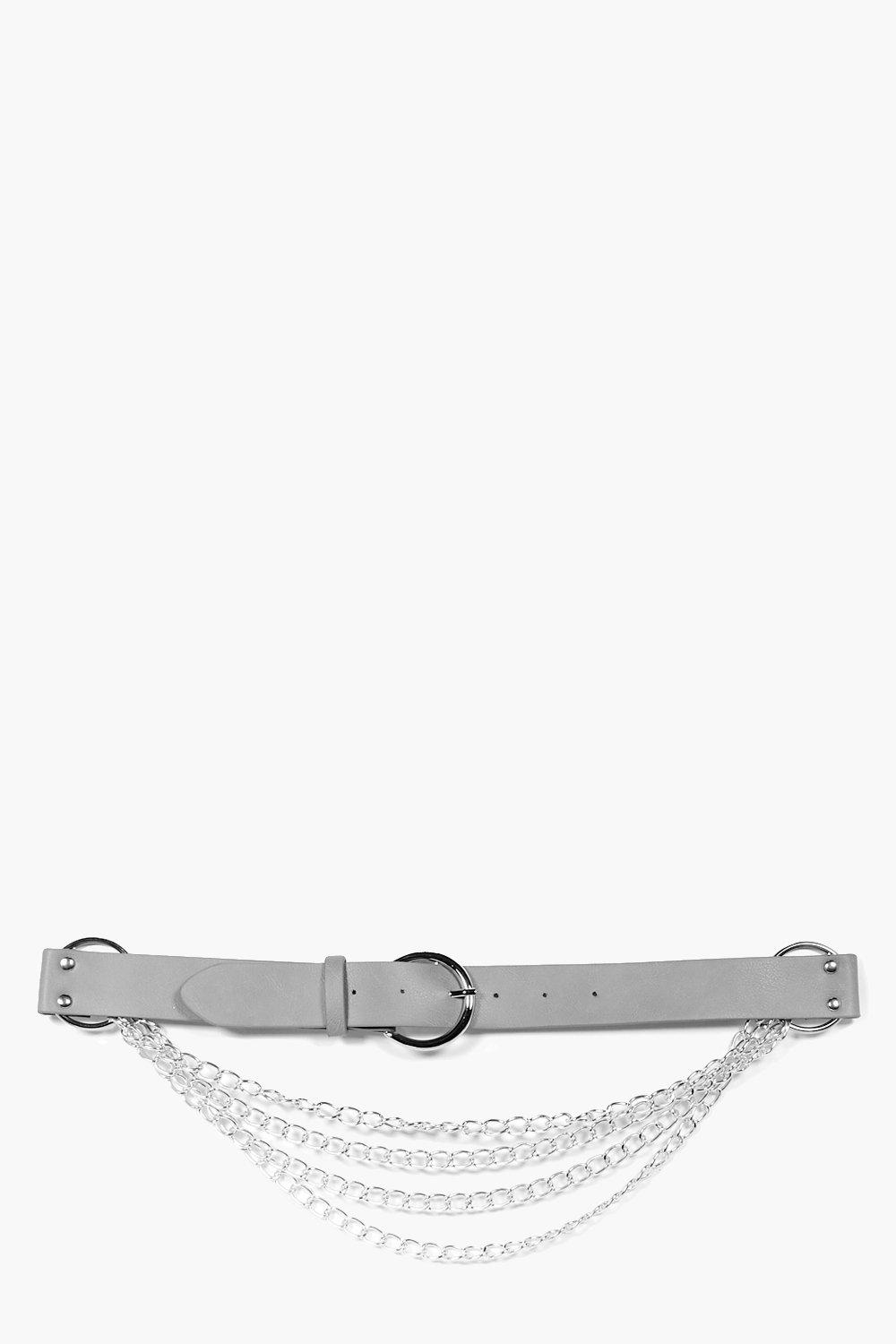 Rings & Chain Boyfriend Belt - grey - Molly Rings
