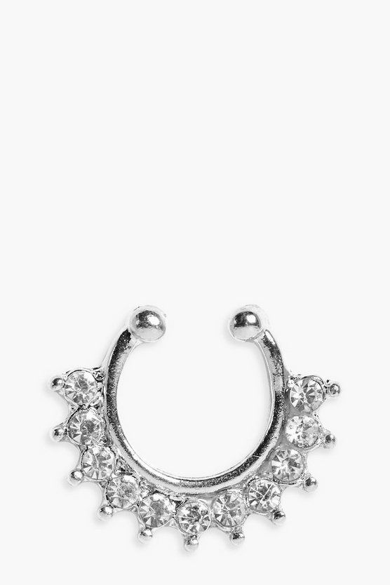 Amy Diamante Detail Faux Septum Ring