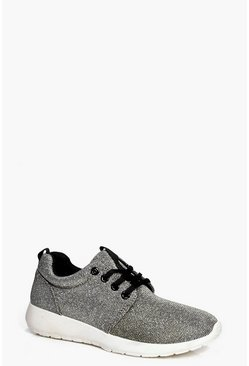 Hollie Metallic Lace Up Trainer