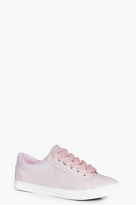 Alice Lace Up Croc Trainer