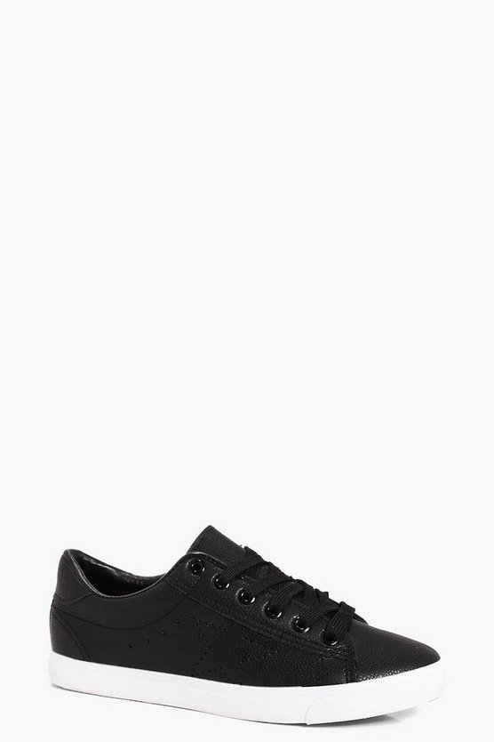 Megan Lace Up Croc Trainer