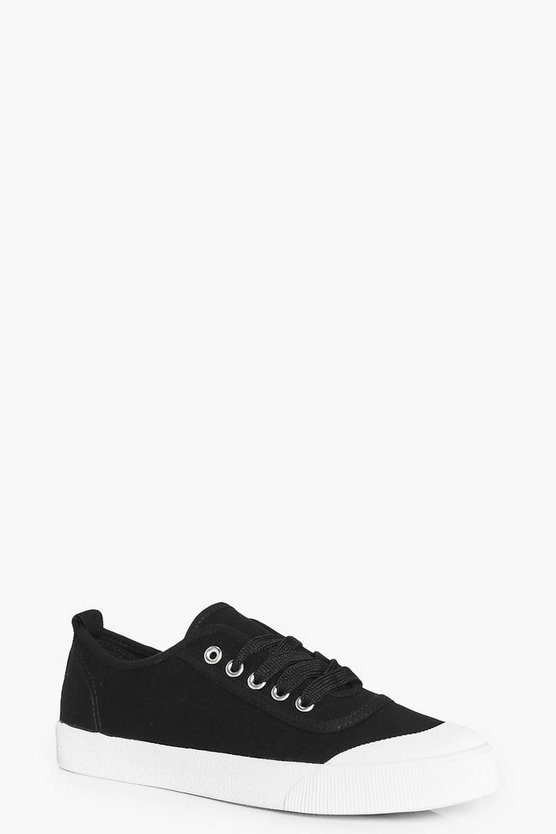 Olivia Lace Up Canvas Pump