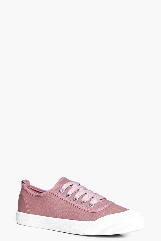 Emma Lace Up Canvas Pump