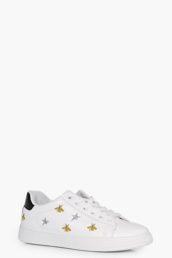 Leah Bee Embroidered Trainer