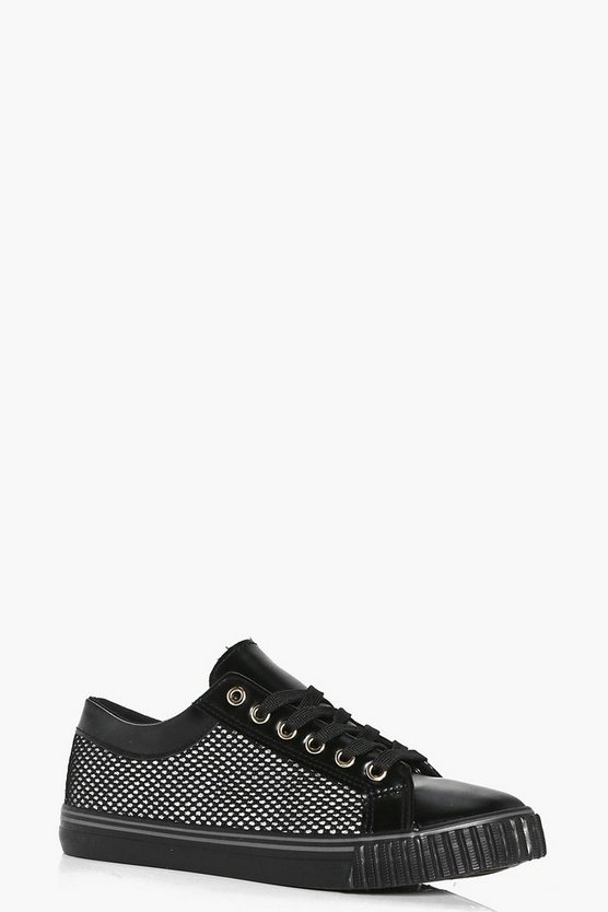 Kate Mesh Insert Lace Up Trainer