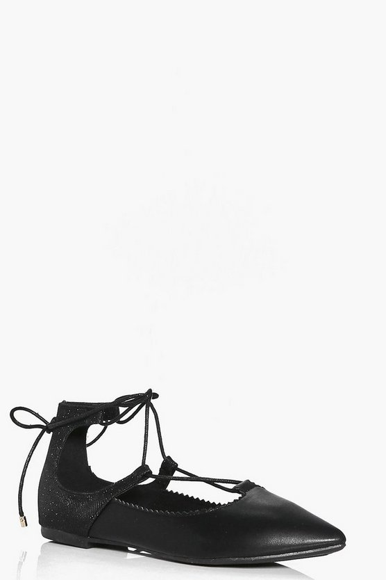Sophia Lace Up Pointed Ballet