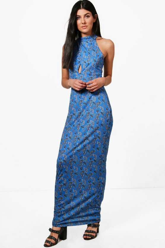 Georgina Keyhole Detail Maxi Dress
