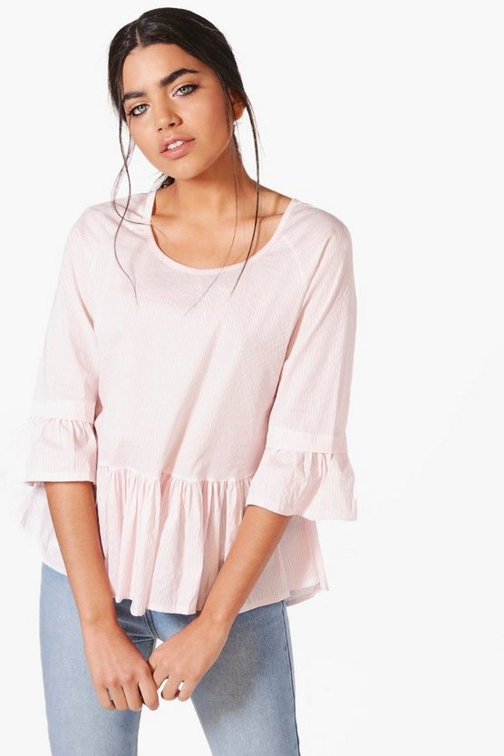 Kylie Woven Stripe Smock Top
