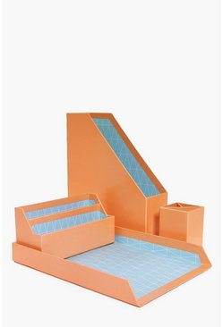 Cardboard File & Pen Organiser Set