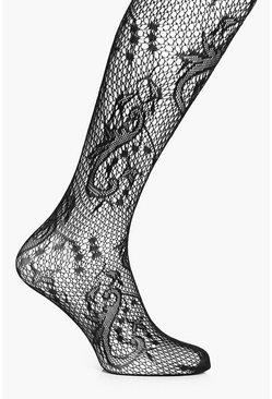 Sophia Patterned Fishnet Tights
