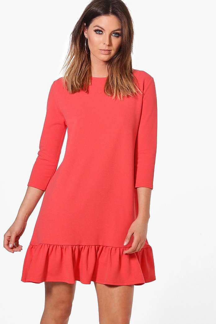Summer Frill Hem Shift Dress