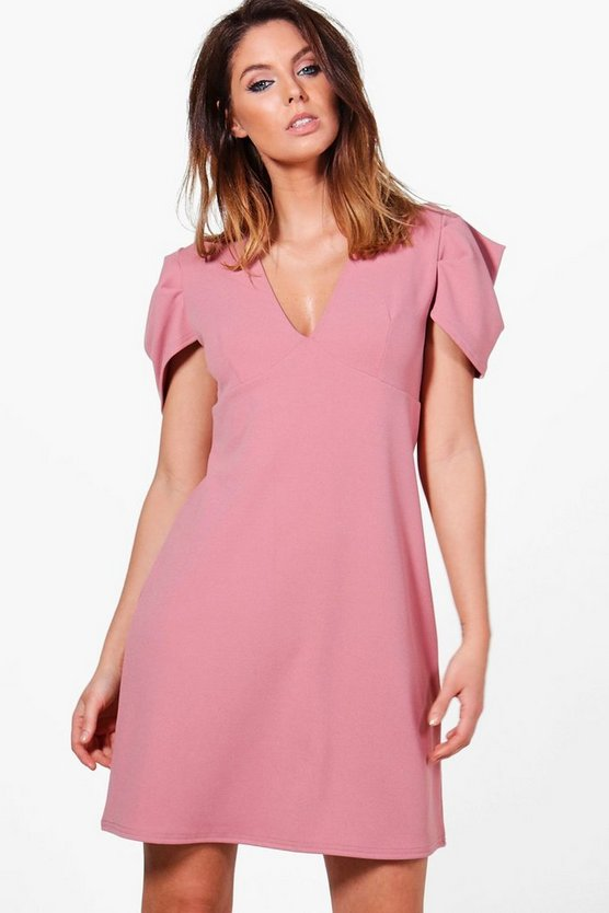 Niamh Please Sleeve Shift Dress