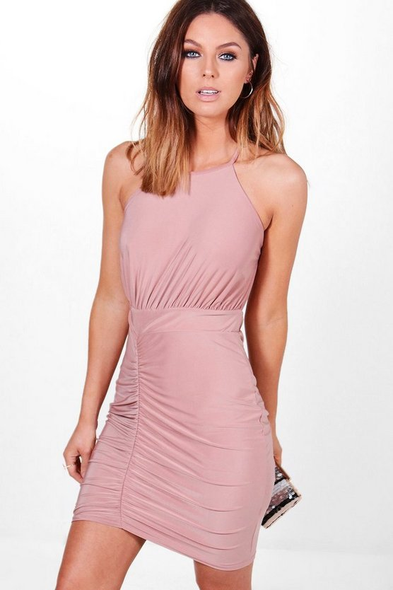 Lola Slinky Strappy Back Detail Bodycon Dress