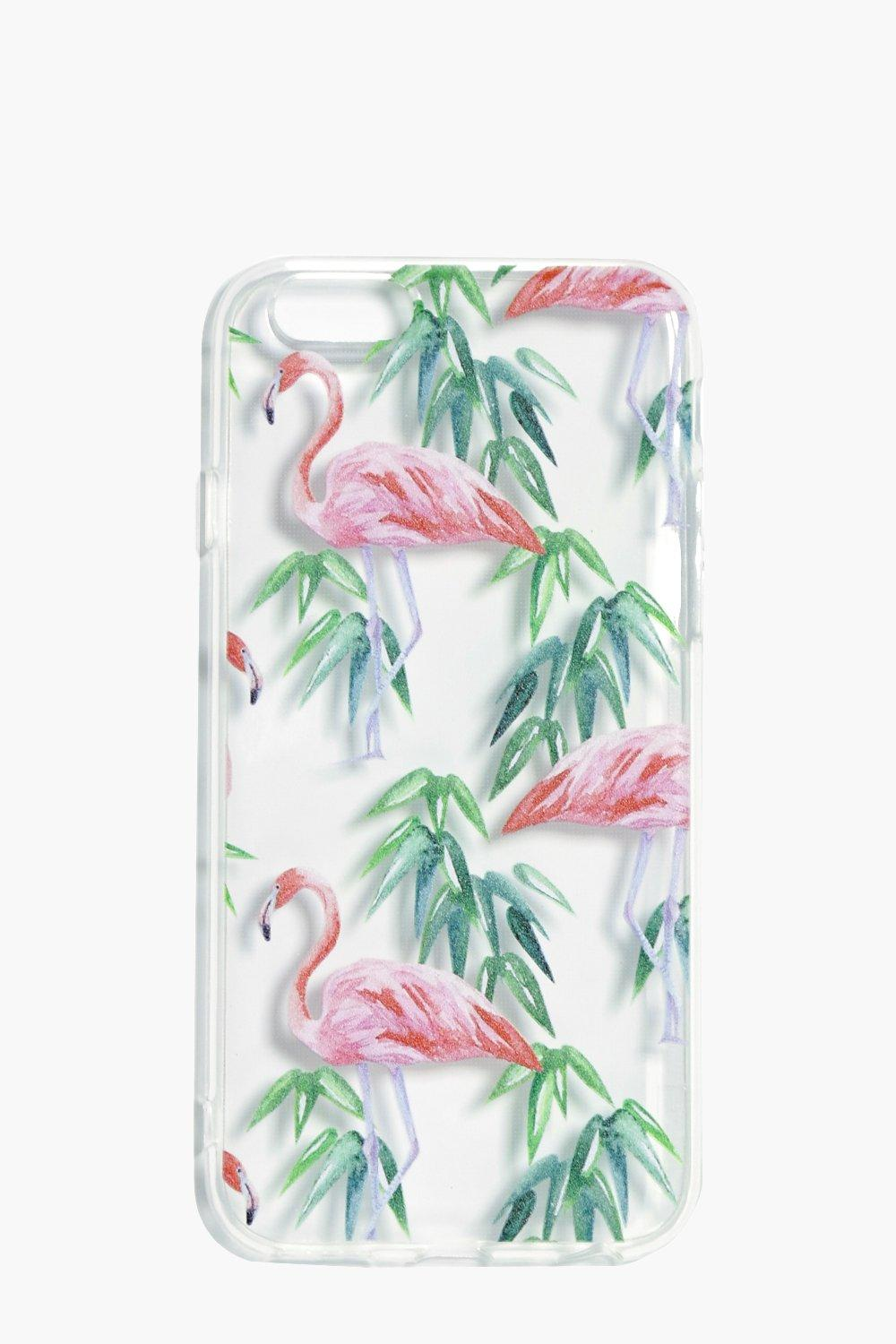 & Greenery iPhone 6 Case - clear - Flamingo & Gree