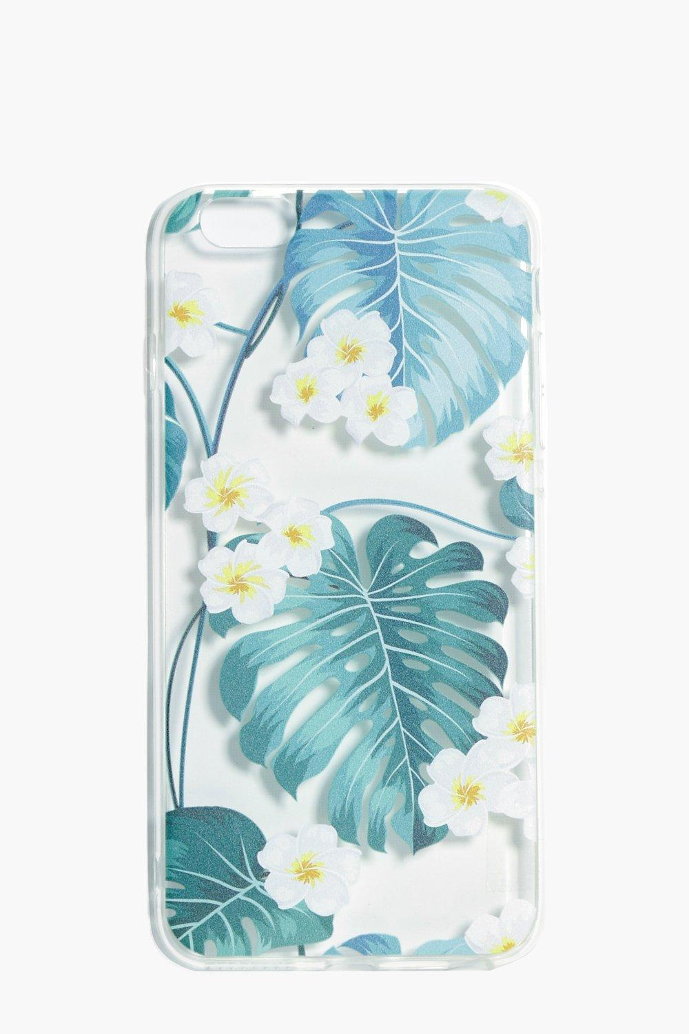 Leaf & Floral iPhone 6 Plus Case - clear - Tropica