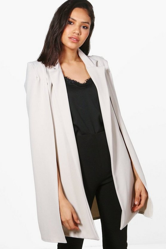 Poppy Collared Tailored Cape Blazer