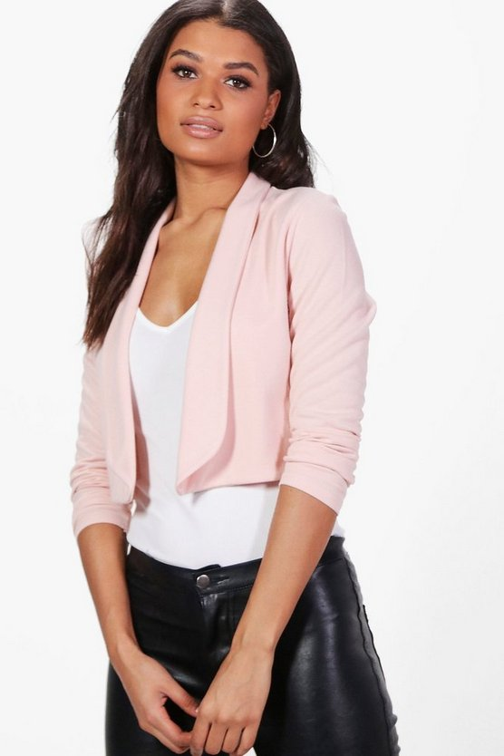 Elise Elongated Lapel Crop Jacket