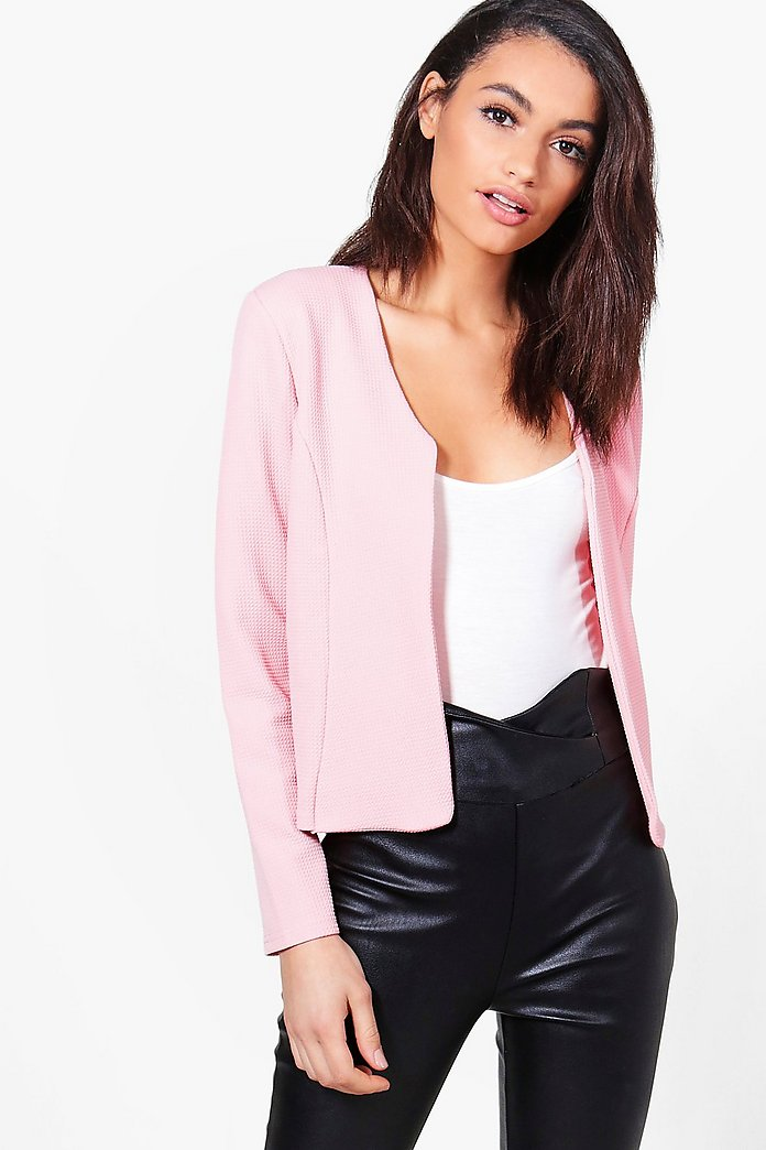 Maddison Textured Crop Edge To Edge Jacket
