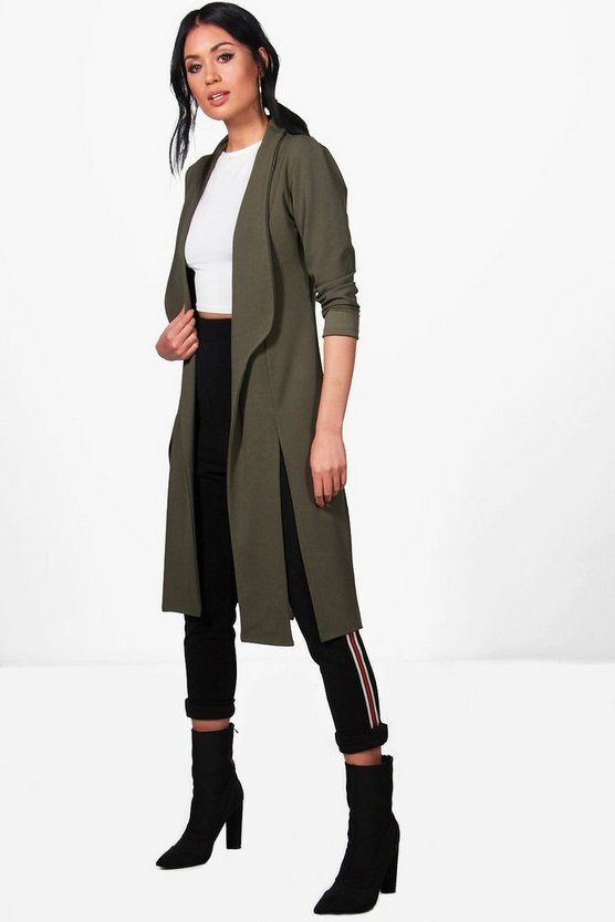 Charlotte Side Split Longline Duster