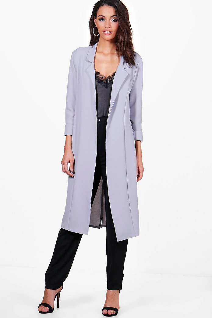 Tiffany Woven Tailored Lapel Duster