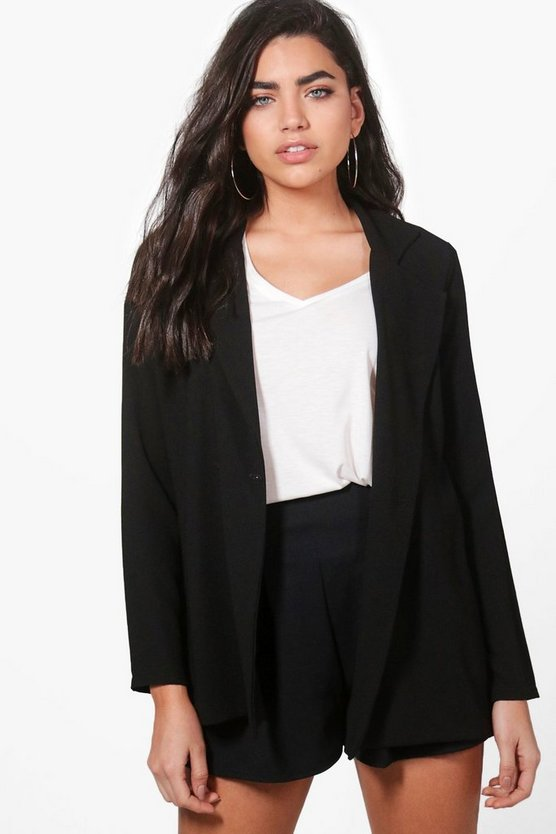 Karen Double Breasted Woven Blazer