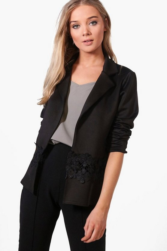 Carla Lace Detail Collared Blazer