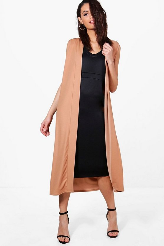 Jane Sleeveless Collarless Duster