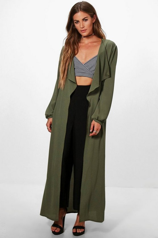 Heather Waterfall Duster