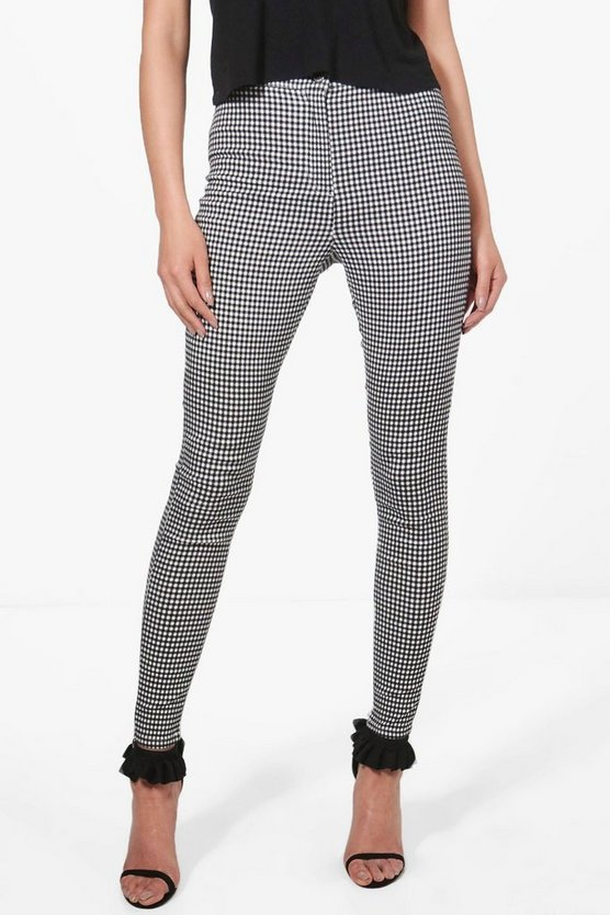 Alex Gingham Skinny Tube Jeans