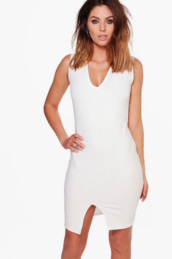 Nicole Sleeveless Tailored Mini Dress