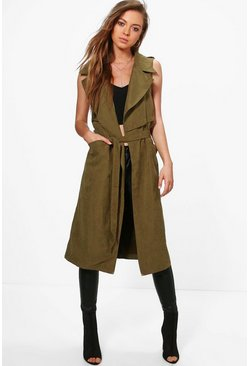 Ella Sleeveless Belted Trench