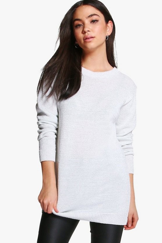Grace Oversized Metallic Jumper