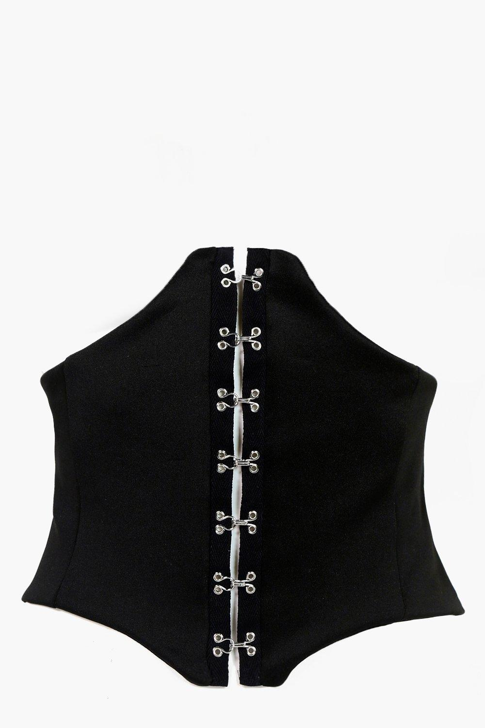 Hook & Eye Corset - black - Sofia Hook & Eye Corse