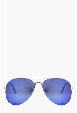 Molly Blue Lense Aviator Sunglasses