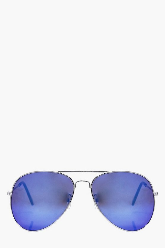 Molly Blue Lense Aviator fashion glasses