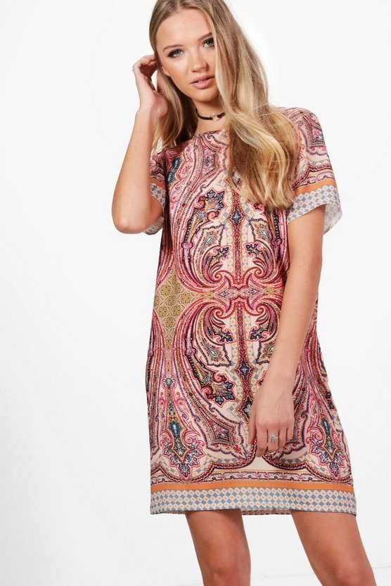 Faith Paisley Woven Shift Dress