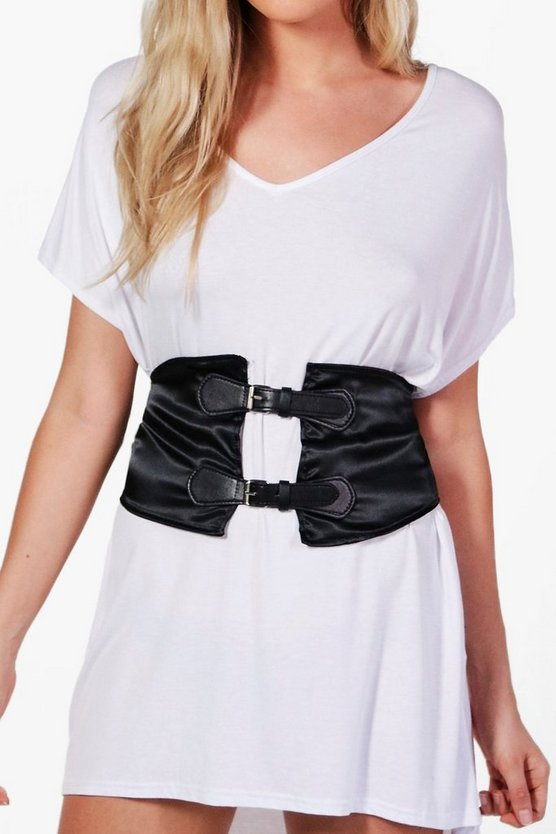 Lucy Satin Double Buckle Waist Belt