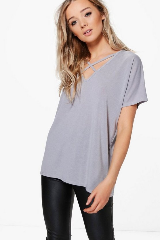 Maddison Strap Detail Fine Knit Top