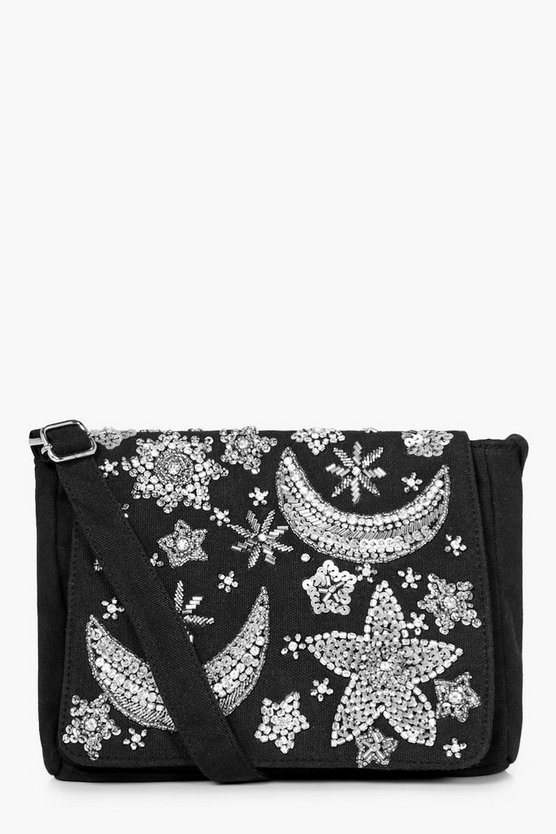 Daisy Moon & Stars Embellished Cross Body