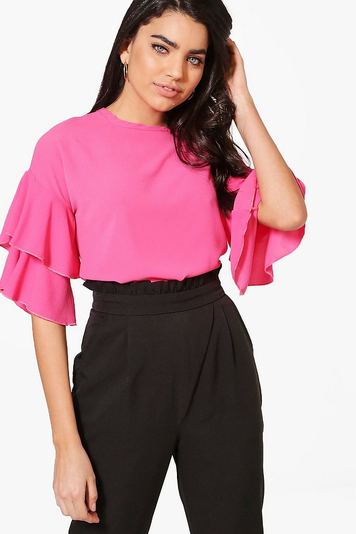 Freya Ruffle Sleeve Top