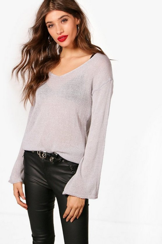 Alice Wide Sleeve Slouchy Jumper