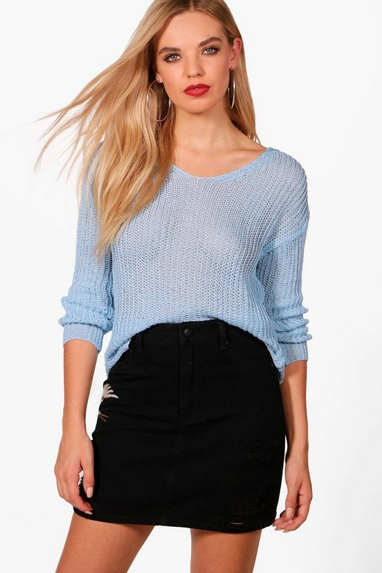 Jessica V-Neck Loose Knit Jumper