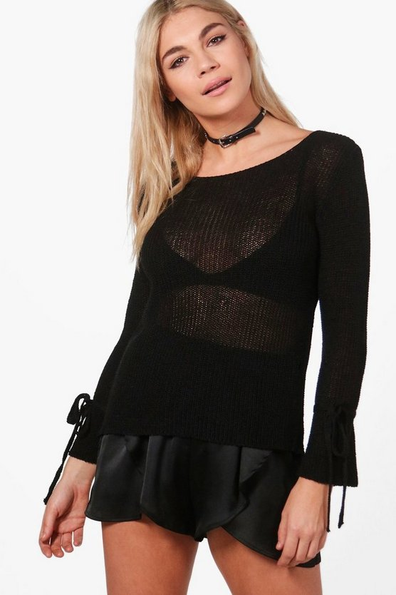 Alice Tie Sleeve Jumper