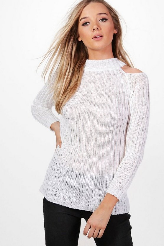 Sarah Cold Shoulder Jumper
