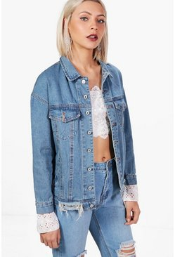 Eve Broderie Anglaise Denim Jacket